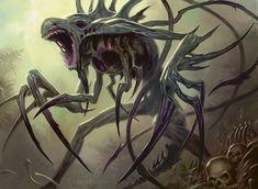 horror [Phyrexian Obliterator by Todd Lockwood] Monster Concept Art, Alien Concept Art, Creature Concept Art, Monster Art, Fantasy Demon, Fantasy Monster, Dark Fantasy Art, Dark Creatures, Alien Creatures