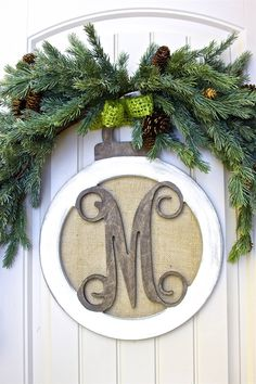 """""""M"""" is for MARY Oversized Unfinished Holiday Ornament! Christmas 2014, Christmas Design, Outdoor Christmas, All Things Christmas, Winter Christmas, Christmas Ideas, Holiday Ornaments, Holiday Crafts, Holiday Fun"""