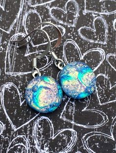 Blinged out Key West Waters Dichroic Glass by AlohaMomCreations