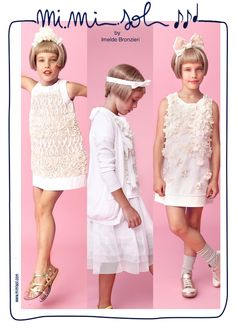 May is at the door, with its warmth, colours and celebrations. I am ready. A white dress is perfect for every occasion. Which one do you suggest me? #fashion #cerimonia #ceremony #Spring/Summer2014 #MiMiSol #Imeldebronzieri #PE2014 #SS2014 #children'scollection #dress