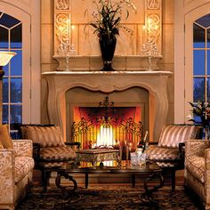 Purchase the lightweight Pachel aka Parc stone fireplace mantel surround with Modern and French design elements.  The look and texture of natural limestone, but about 1/3 of the weight.