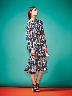 Schnittmuster - Kaftan, Kleid 122 B, burda style 07-2015