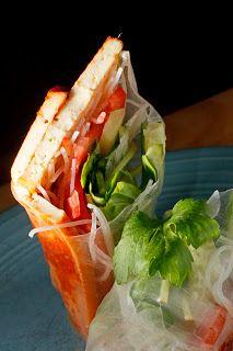 Kimchi Tofu Summer Rolls | Recipe | Summer Rolls, Kimchi and Tofu