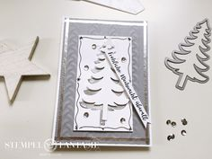 Blogparade: Winterzauber - Karte mit Tannenbaum aus Strukturpaste mit Tipps und Tricks, wie Du Schlabonen für Strukturpaste selbst machst