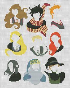 Harry Potter cross stitch pattern pdf sampler cross by AvroraCS