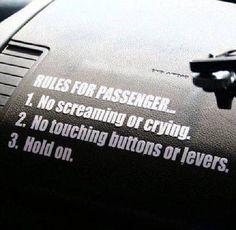 Jeep Rules for Shotgun Passenger! Sticker Decal for JDM Race Drift Car Jeep Decals, Truck Stickers, Decals For Cars, Funny Bumper Stickers, Truck Decals, Vinyl Decals, Car Memes, Car Humor, Jeep Humor