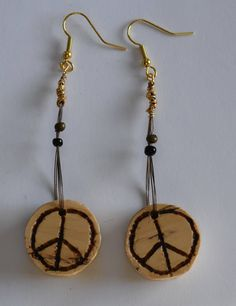 A personal favorite from my Etsy shop https://www.etsy.com/listing/264397380/wood-peace-sign-earrings
