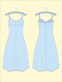 Free Slip or Nightgown Pattern for SEW MAGAZINE created by House of Jo.Make in my size in different colored silky fabrics. Diy Clothing, Sewing Clothes, Clothing Patterns, Dress Patterns, Vintage Clothing, Lingerie Patterns, Sewing Coat, Coat Patterns, Vintage Dresses