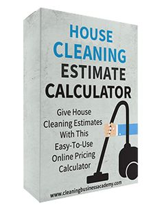 house cleaning estimate calculator more