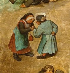 Detail from Children's Games, Pieter Bruegel the Elder, 1560
