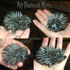 Prickles the Hedgehog by Sue Beatrice of All Natural Arts.