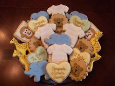 Animal cookies for baby shower!