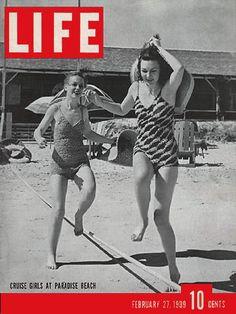 LIFE Magazine February 27, 1939 - Cruise Girls at Paradise Beach