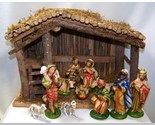 Vintage Christmas Nativity ~ Hand Painted