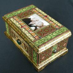 personalized engagement wedding decoupage box by Daykopajj on Etsy, $350.00