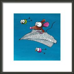 Whimsical Fine art prints. Buy it framed and mounted to suit your child's bedroom style.