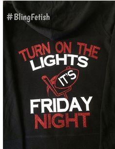 Friday Night Lights, football shirt #blingfetish - mens button down casual shirts, band shirts, mens white button down shirt short sleeve *ad