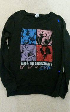 Truffle Shuffle Jem and Holograms Sweatshirt Jumper Size XL | eBay