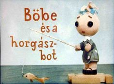 Böbe és a horgászbot Bobe, Puppets, Childhood Memories, Decoupage, Diy And Crafts, Snoopy, Teddy Bear, Dolls, Animals