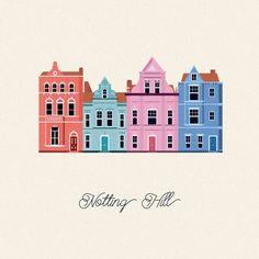 Vector Cities | Gloria Ciceri || Illustration, City, House, London, UK, Graphic Design