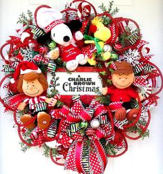 Charlie Brown Wreath Peppermint Patty Talking Wreath