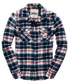 Shop Superdry Mens Milled Flannel Shirt in Ocean Blue Check. Buy now with free delivery from the Official Superdry Store. Neo Grunge, Grunge Style, Soft Grunge, Grunge Outfits, Flannel Outfits, Tokyo Street Fashion, Le Happy, Mens Flannel Shirt, T Shirt