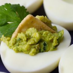 Eat Stop Eat To Loss Weight - Guacamole Deviled Eggs - In Just One Day This Simple Strategy Frees You From Complicated Diet Rules - And Eliminates Rebound Weight Gain Tasty Videos, Food Videos, Cooking Videos, Guacamole Deviled Eggs, Guacamole Recipe, Avocado Deviled Eggs, Healthy Snacks, Healthy Recipes, Vegetarian Recipes