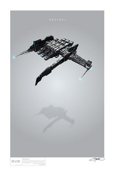 A collection of art print style posters inspired by the spaceships of Eve Online Spaceship Art, Spaceship Design, Eve Online Ships, Robot Technology, Technology Gadgets, Robot Art, Robots, Found Object Art, Kestrel