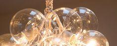 DIY globe cluster lamps.