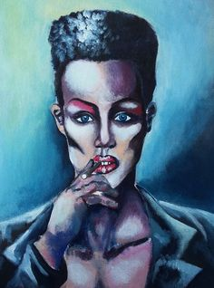 """Grace Jones, vol. 3"", acrylic on canvas, 20x30cm, 2016"