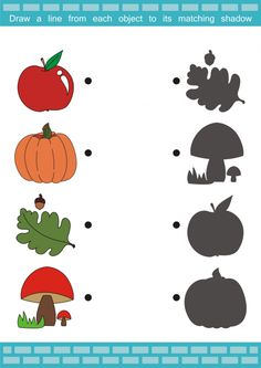 Get more of EXCLUSIVE bundles. CLICK to get. Share. Perfect for autumn, this free printable activity sheet is ideal for young learners. Have your student name all the autumn pictures on the page, and then see if they can match the image to its shadow. What other autumn vocabulary does your child know?