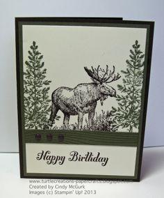 stampinup moose stamp | Walk in the Wild - Stampin' Up!