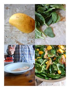 Wilted Spinach and Spiced Chicken salad steps... #recipe