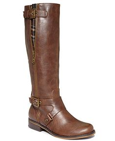 G by GUESS Women's Shoes, Hertlez Tall Shaft Wide Calf Boots - Wide Calf Boots - Shoes - Macy's