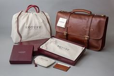 Lotuff Leather creates fine quality, handcrafted leather bags by combining inherent functionality with classic beauty. We partnered with Lotuff to re-brand their design—the project includes, brand identity, stationery system, print collateral, product pac…