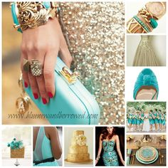 Wedding Colors:Turquoise and Gold