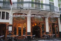 The Jugendstil doors of Isola Bella restaurant are amazing. Thorbeckeplein 9, Amsterdam.