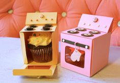 DIY Mini Bakery Cupcake Holder Box with FREE Template