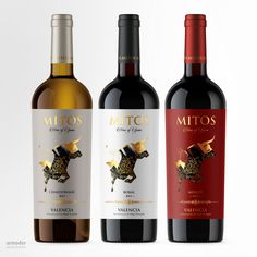 Bodegas Mitos on Packaging of the World - Creative Package Design Gallery Wine Bottle Design, Wine Label Design, Wine Logo, Wine Photography, Wine Sale, Wine Brands, Beer Packaging, Label Templates, Wine And Beer