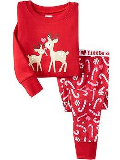 Deer Candy Cane PJ Sets for Baby | Old Navy