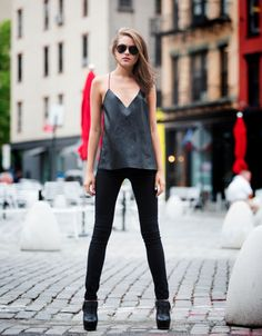 leather cami from CAMI NYC