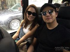 This is the handsome Daniel Padilla and the pretty Kathryn Bernardo smiling for the camera while riding on the coach bus with the rest of the ASAP Kapamilya going to Coney Island before rehearsals for ASAP Live in New York last September 3, 2016. Indeed, KathNiel is my favourite Kapamilya love team, and they're amazing Star Magic talents. #KathrynBernardo #TeenQueen #DanielPadilla #KathNiel #KathNielBernaDilla #ASAPLiveinNewYork