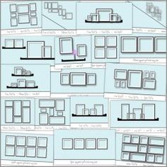 Photo Wall layout ideas