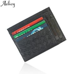 4c2c9f10a New Fashion Vintage Slim Mini Leather Credit ID Card Holder Wallet Purse  Bag Pouch Book Cover Case Wholesale For Gift