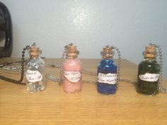 Disney Princess Inspired Potion Charm Necklace   Homemade