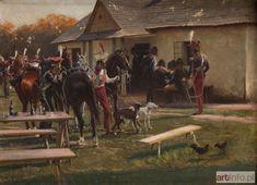 Zygmunt ROZWADOWSKI ● Ułani na postoju, 1897 r.
