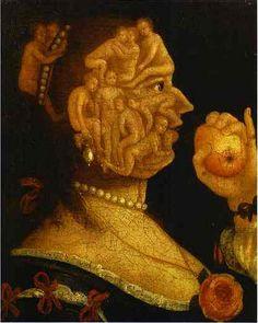 arcimboldo_eve_and_the_apple  Giuseppe ARCIMBOLDO o Arcimboldi, come è nominato in diversi documenti d'archivio (Milano, 5 aprile 1526 – Milano, 11 luglio 1593)  #TuscanyAgriturismoGiratola