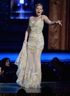 Actress Megan Hilty performs onstage at The 67th Annual Tony Awards at Radio City Music Hall on June 9, 2013 in New York City. We love you, Megan, oh yes we do.