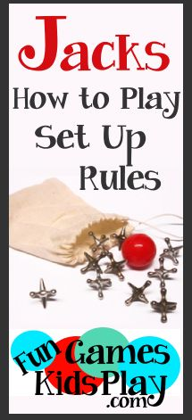 How to play the game of Jacks. Set up, rules and fun variations! Fun for kids of all ages! Team Games, Group Games, Dice Games, Activity Games, Family Card Games, Fun Card Games, Games To Play With Kids, Kids Fun, Summer Kids