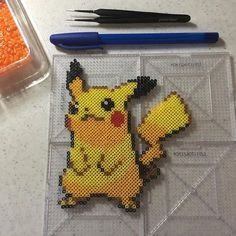 PIkachu perler beads by perlinthesprites_byliz …
